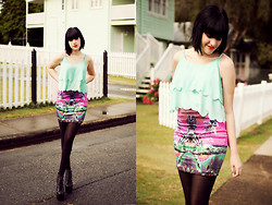 Kaylah Wanny - Motel Rocks Skirt, Jeffrey Campbell Lita Boots, He Doesn't Know Why Tank Top - You can run away with me anytime you want