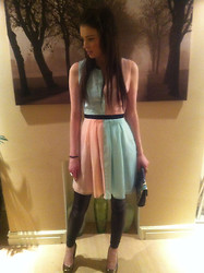 Gemma Davison - New Look Pastel Dress - Sugar Almond Pastels