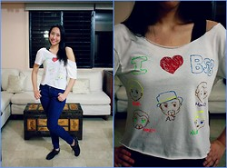 Trina Marie Ledesma - Topshop Soft Skinny Jeans, I Made It Myself :) Do It Ypurself Cropped Top, Black Ankle Boots - Backstreet Boys' No. 1 Fan