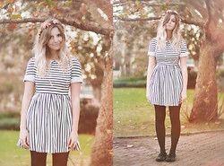Amy S - Pamela Dress, Spiked Loafers - Future Sailor