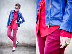 Barbara Zanella - Enfim Leather Jacket, Lez A Burgundy Pants, Melissa Shoes - Leather + Burgundy