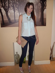 Gemma Davison - Miso @ Republic Collar Clips, H&M Mint Cotton Shirt, Asos Silver Wedges, Thrifted Studded Leather Bag - Collar Candy