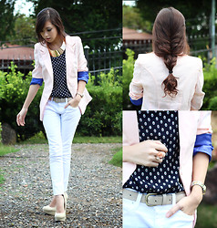 Kryz Uy - Wagw Blazer, Wagw Top, Yesstyle Jeans, Extreme Finds Necklace - Sweet Twists