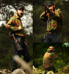 Boreas Ʊ - Vintage Italian Camouflage Rain Jacket, Mavi Jeans Blue Jean - Hype! or I'll shoot you!