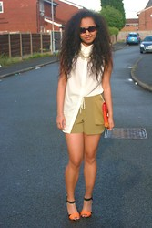 Husty Fuentes - H&M Top, Topshop Running Shorts, Asos Shoes - Too Deep For The Intro