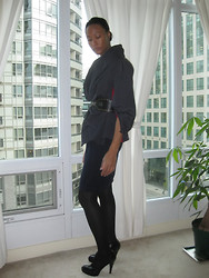 Gail C - Michael Korrs Belt, John Varvatos Cocoon Neck Shirt, Kurt Guiger Heels - So Much For The Summer!!!