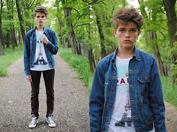 Matthew Rosinski - Zara Jeans Jacket, Pull & Bear The Eiffel Tower T Shirt, H&M Pants, Converse Shoes - The Eiffel Tower