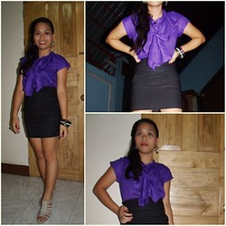 Jade Revil - Bandage Skirt, Silver Covered Gibi Sandals, Purple Top - Be My Lover