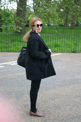 Marta Castellanos - Love Coat, Primark Oxfords, Nys Collection Shades - Balance