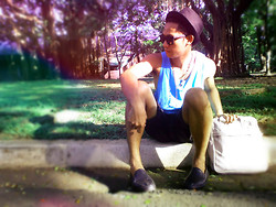 Ervin Tamondong - Julius Hat, Ray Ban Shades, Mint Sando, George Short, Topman Black Shoes, Vans Bag - CAN WE CHILL •_•