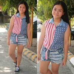 Nina Santos - Adidas Kicks, Button Down Top - Flagged