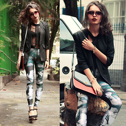 Alana Ruas - Lovelysally Silent Smoke Legging, Felicee Blazer, Zara Shoes, Romwe Top - Blow Me Up