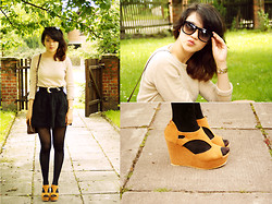 Grace J - Oasap Wedges, Sunglasses - What i've got in my head you can't buy, steal or borrow