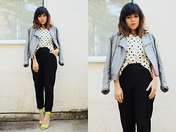 Victoria + - H&M Shoes, Topshop Top Shop Jacket, Dots - Tra