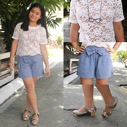 Nina Santos - Floral Wedges - Little School Girl