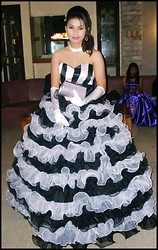 Zarina Zarate - Roxy Black And White Gown, Roxy Night Make Up, Roxy Elegant Hair - Wanna be the Queen of your life <3