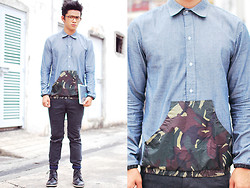 David Guison - Jman Camo Button Down - Urban Camo