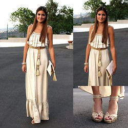 Marianela Yanes - Coqueta Complementos Belt, Zara Hairdo, H&M Bag, Blanco Shoes - Golden Goddess inspiration