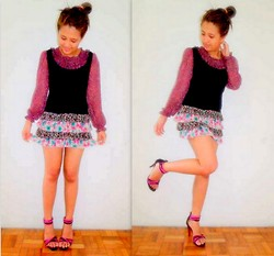 Star Agus - Sm Department Store Floral Skirt, Local Store Floral Blouse, Heels - Lady in Pink