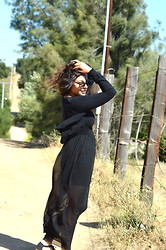 Brenda Presley - Forever 21 Long Black Dress, American Apparel Sun Glasses - I would like some sweet company