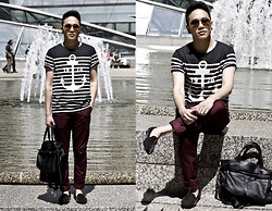 Mark Patrielle Bueno - Topman Anchor Shirt, H&M Trousers, Unif Loafers, Caleb Bag - Love Will Be Our Anchor