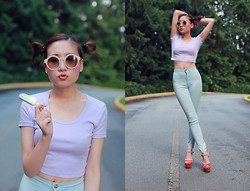 Michelle Zhang - American Apparel Top, American Apparel Jeans - Ice cream