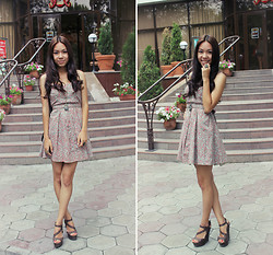 Lera Chzhen - Collins Dress, Wedges - I tried to be chill but you're so hot that I melted