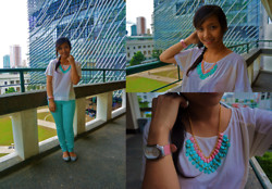Ganna Athena G - Forever 21 Top, Zara Jeans, Sugar Kissed Necklace, Philipstein Watch, Melissa Shoes - The Centennial Closing