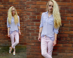 Holly Tomkins - Primark Sheer Shirt, River Island 7/8 Jeans - Brightening up rainy days