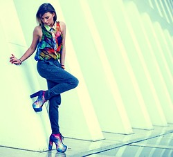 Juliett Kuczynska - Black Milk Clothing Shoes, Shirt - Santigold - Disparate Youth / maffashion