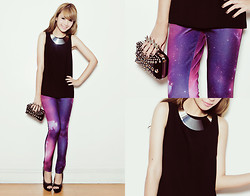 Tricia Gosingtian - Pants, Mango Top, Clutch, Necklace, Michael Antonio Heels - 061712