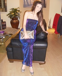 Gemma Davison - H&M Clutch Bag, New Look Maxi Dress - Shine On!