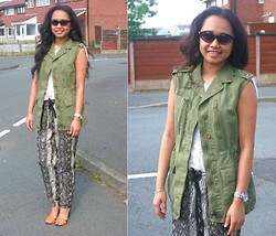Husty Fuentes - Zara Military Vest, Mango Trousers - Mind Games