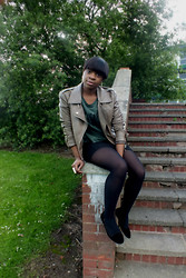 Adelaide Chitanda - Topshop Jacket, Tights, Flat Shoes, River Island Top - We're together, now we're undone