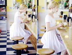 Catherine P - Katie Louise Ford For Audrey Grace White Dress, Steve Madden Black Pumps - Sundae Dress