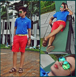 Chris Reyes - Aeropostale Shirt, H&M Shorts, Puma Belt, Sm Accesories Bracelets, Rudy Project Sunnies - Polychrome Summer