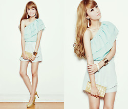 Tricia Gosingtian - Top, Shorts, Heels, Forever 21 Accessories - 062112