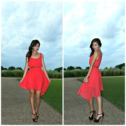 C. Le - American Rag Dress, Charlotte Russe Shoes, Forever 21 Necklace - Dance The Night Away