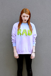 Hannah Louise - Oh Hell Rad Slime Lilac/Blue Sweatshirt - Oh Hell!