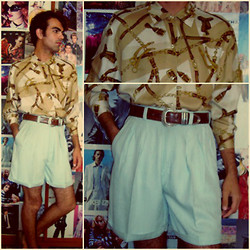 Ro Covarrubias - Vintage Shop Silk Shirt, Vintage Shop Silk Shorts - June/22/2012