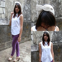 Anina P. - Forever 21 Headband, Uniqlo Button Down, Nava Heels - Who's That Girl