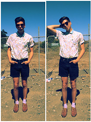 Blake Keif - H&M Sunglasses, Thrifted Vintage Polo, Levi's® Levis Shorts, American Apparel Socks, Thrifted Shoes - I'll Never Forget You