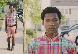 Kevin-João LaShawn - Polo Ralph Lauren Plaid Short Sleeved Shirt, Nantucket Reds Collection Shorts, Ralph Lauren Wolcott Oiled Leather Boots - Lazy Angels Never Carry Their Wings