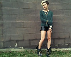 Hanna Renee - Jcpenney Faux Leather Shorts, Dr. Martens Boots - Tucker, can you take over for me?