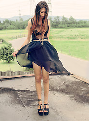Anna Zhu - Zara Shoes, Forever 21 Bracelet, Topshop Skirt, Vintage Belt, Zara Shirt - If you're a bird, I'm a bird. - the Notebook ♥