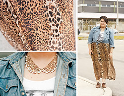 Sara Ann - Forever 21 Lappert Maxi Skirt, Miss Selfridge Collar Necklace - Out of town