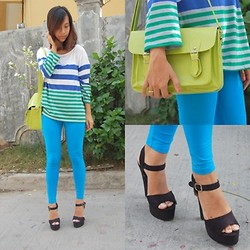 SalveeLangella Retuya - Penshoppe Striped Top, Parisian Satchel Bag, Parfois Shoes - Brights