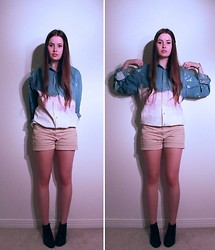 Emilie Y. - Zara Shorts, Vintage Booties - DIY - (Not So) Dip Dye
