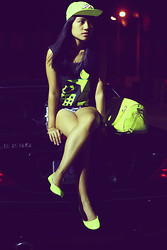 Lai Serrano - Bargain Kiddo Cap, Primadonna Neon Flats, Sm Department Neon - A land named kiwi