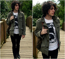 Grayson Gabriel - Urban Outfitters Bob Marley Tee, Tommy Jacket - YES TO BRIDGES